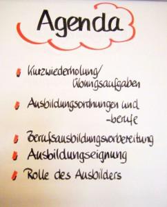 Agenda AEVO-Seminar