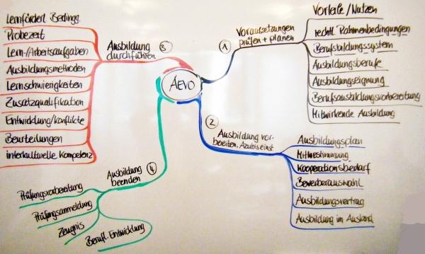 Inhalte der vier AEVO-Handlungsfelder